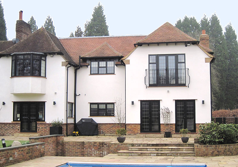 Arts & Crafts extension & triple garage in Sevenoaks